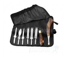Set of Hoof Knives Roll up Wallet