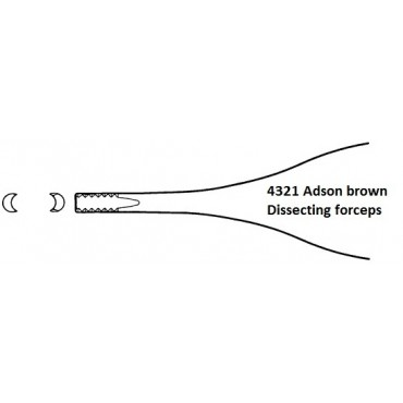 Adson Dissecting & Dressing Forceps